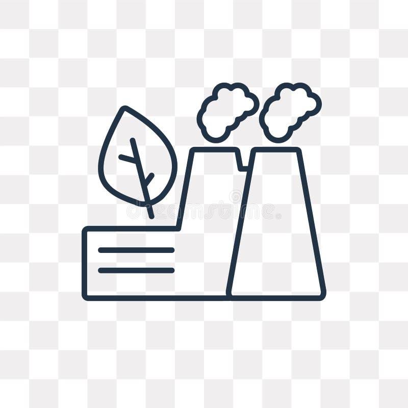 Duurzaam fabrieks vectordiepictogram op transparante backgrou wordt geïsoleerd vector illustratie