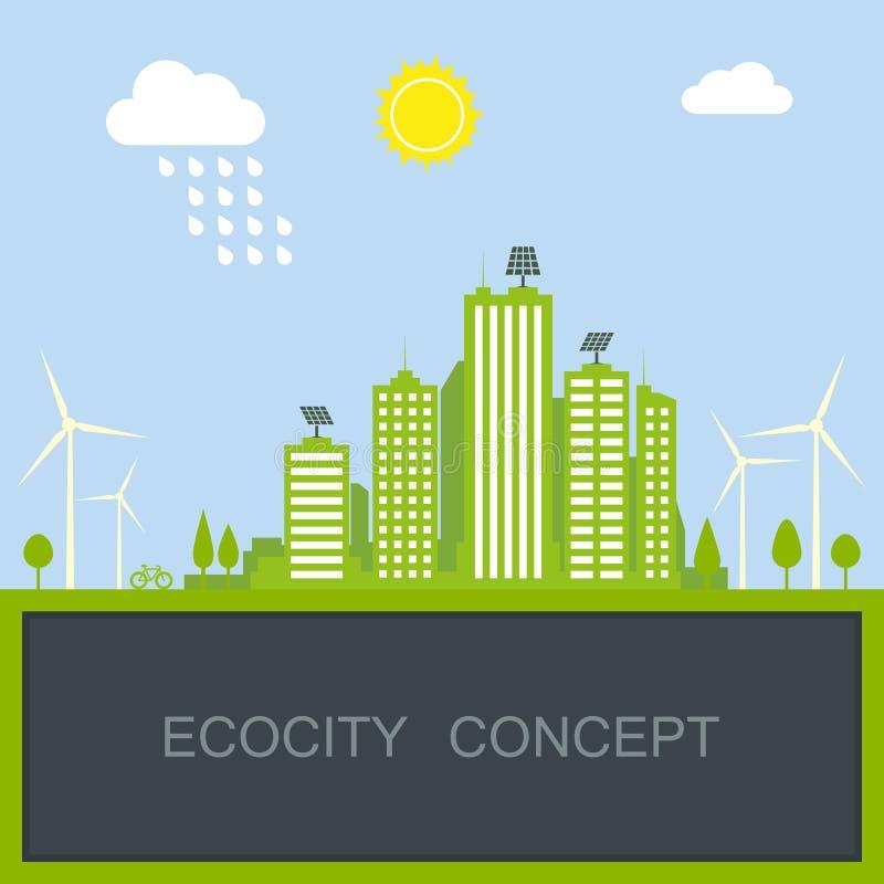 Duurzaam stadsconcept stock illustratie