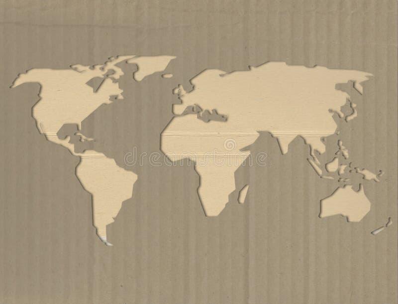 Duurzaam wereldconcept op karton royalty-vrije stock foto's