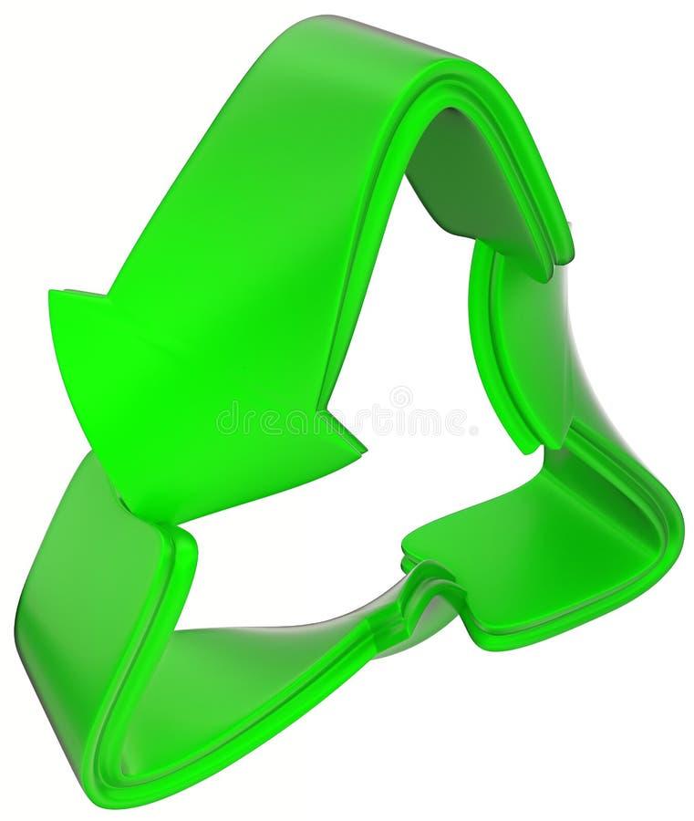 Duurzaamheid en ecologie: groen recyclingssymbool stock illustratie