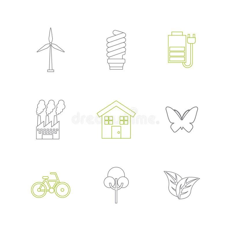 duurzaamheid en ecologieontwerp vector illustratie