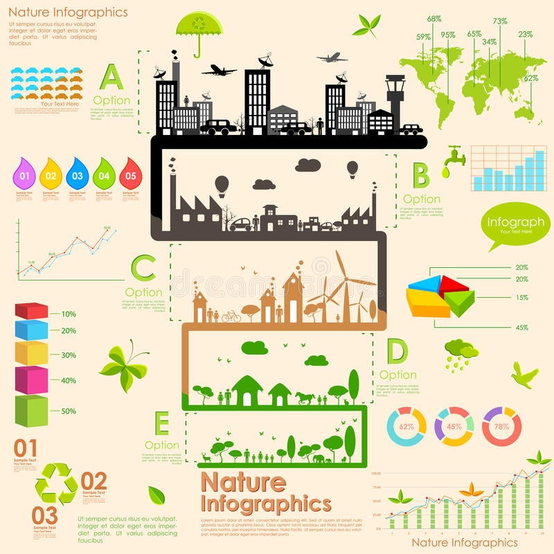 Duurzaamheid Infographic royalty-vrije illustratie