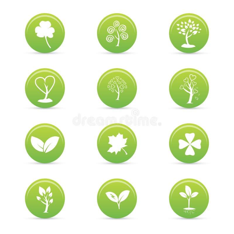 Duurzaamheidspictogrammen royalty-vrije illustratie