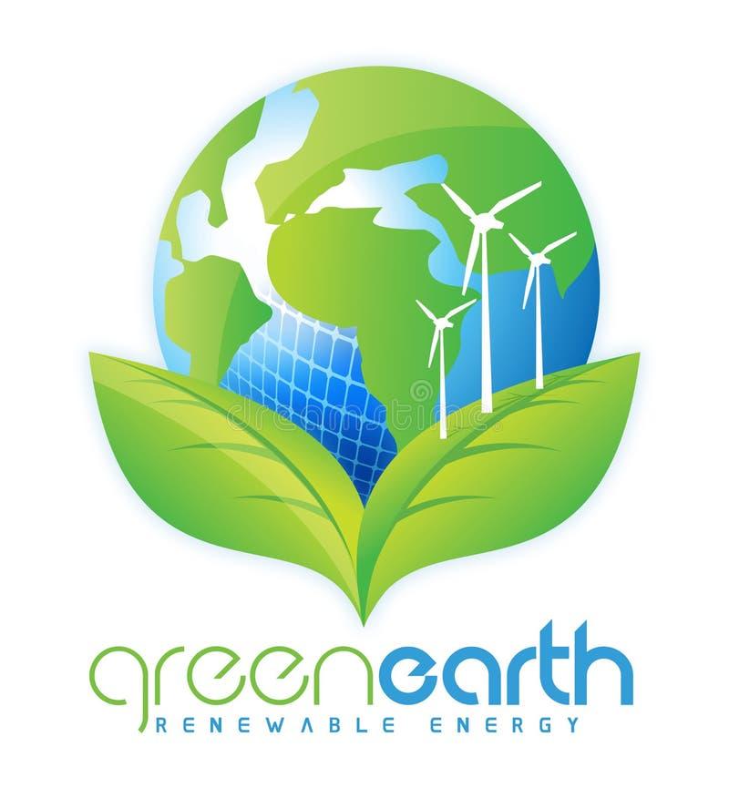 Duurzame energie vector illustratie