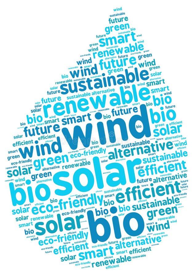 Duurzame Energie Grafische Daling Gestalte gegeven Illustratie vector illustratie