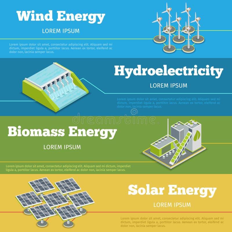 Duurzame energie of het concept van ecoinfographics vector illustratie