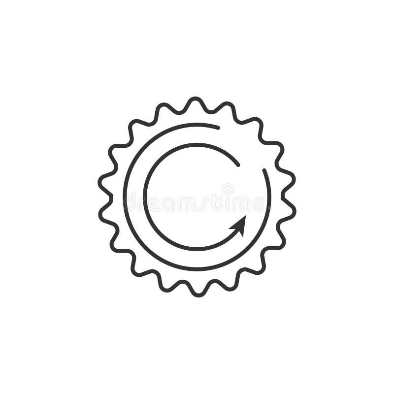 Duurzame energiepictogram Eenvoudige elementenillustratie Het ontwerp van het duurzame energiesymbool van de reeks van de Ecologi stock illustratie