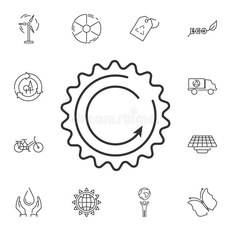 Duurzame energiepictogram Eenvoudige elementenillustratie Het ontwerp van het duurzame energiesymbool van de reeks van de Ecologi vector illustratie