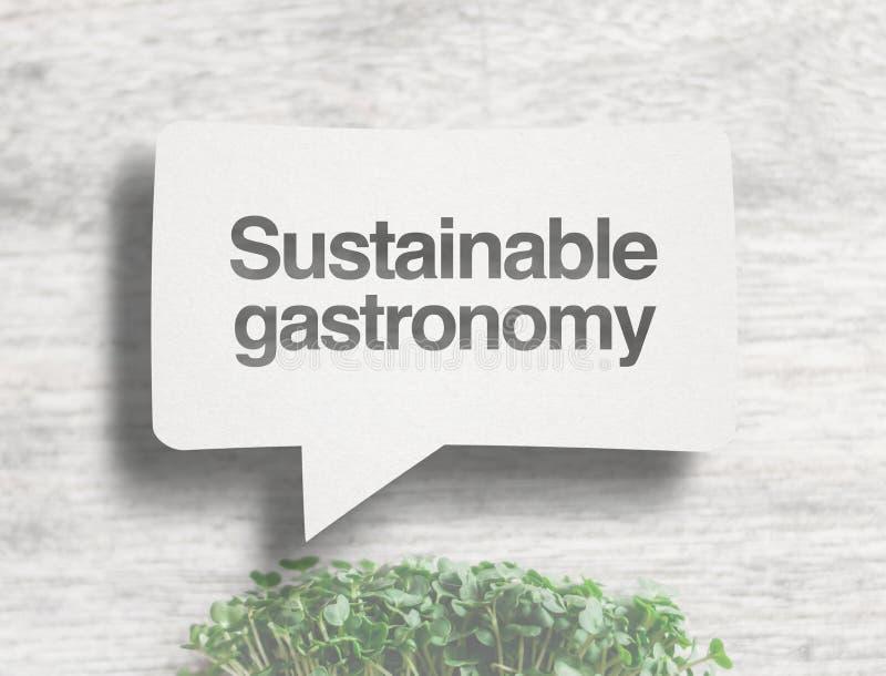Duurzame gastronomie stock fotografie