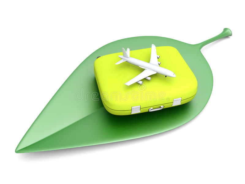 Duurzame luchtreis royalty-vrije illustratie
