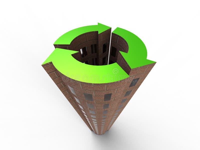 Duurzame Stad vector illustratie