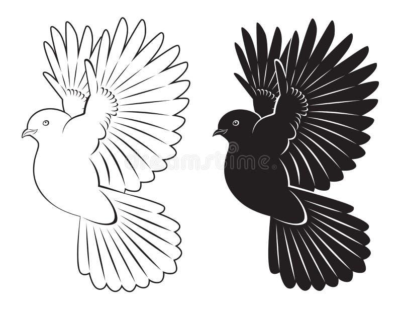 Duva royaltyfri illustrationer