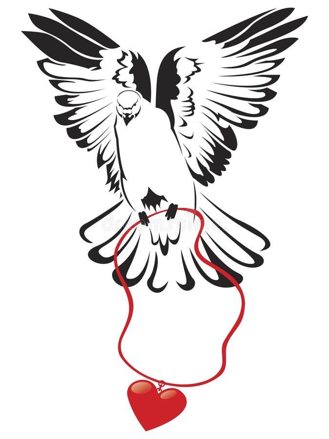 duvahjärta royaltyfri illustrationer