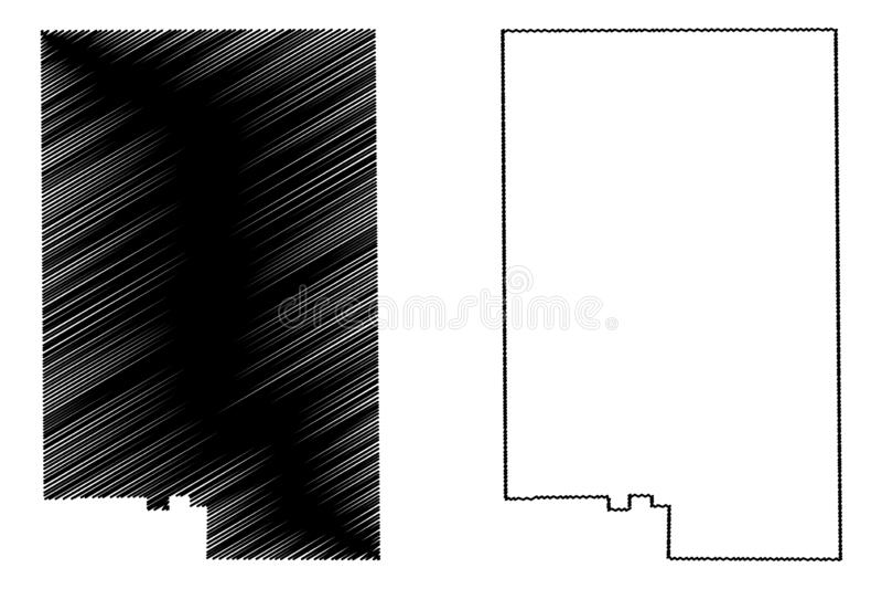 Duval okręg administracyjny, Teksas okręgi administracyjni w Teksas, Stany Zjednoczone Ameryka, usa, U S , USA mapy wektorowa ilu ilustracja wektor