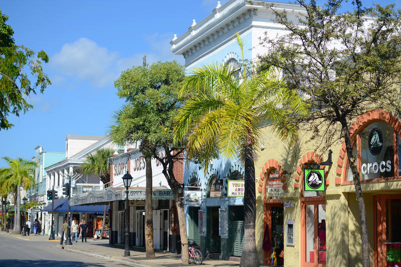 Duval Street in Key West, Florida royalty free stock images