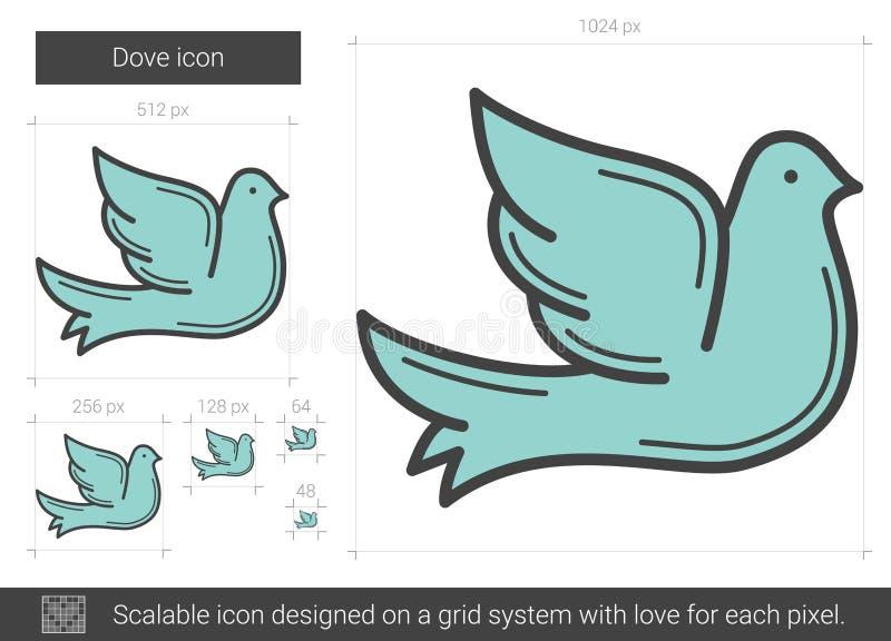 Duvalinje symbol royaltyfri illustrationer
