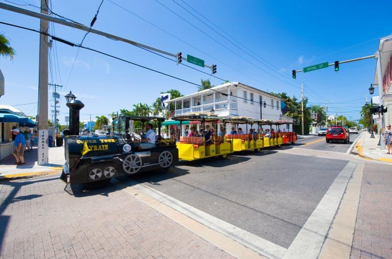 Duvalstraat in Key West stock afbeelding