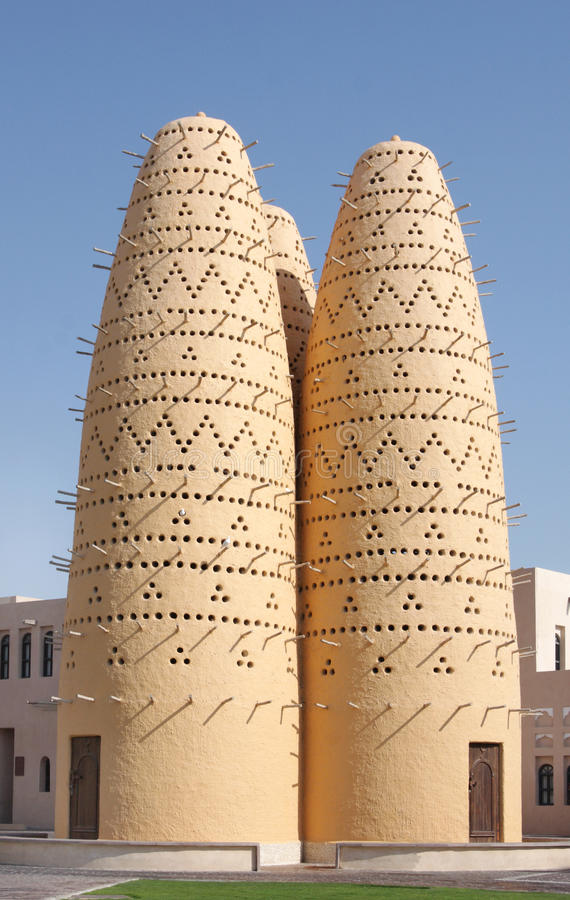 Duvslag på den Katara byn, Qatar arkivbilder