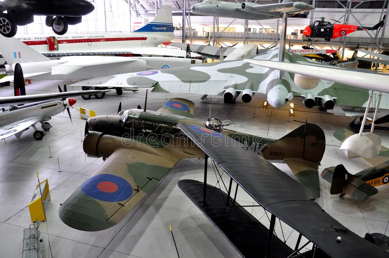 Duxford War Museum , England - March 21, 2012. Duxford imperial war museum in the U.K royalty free stock images