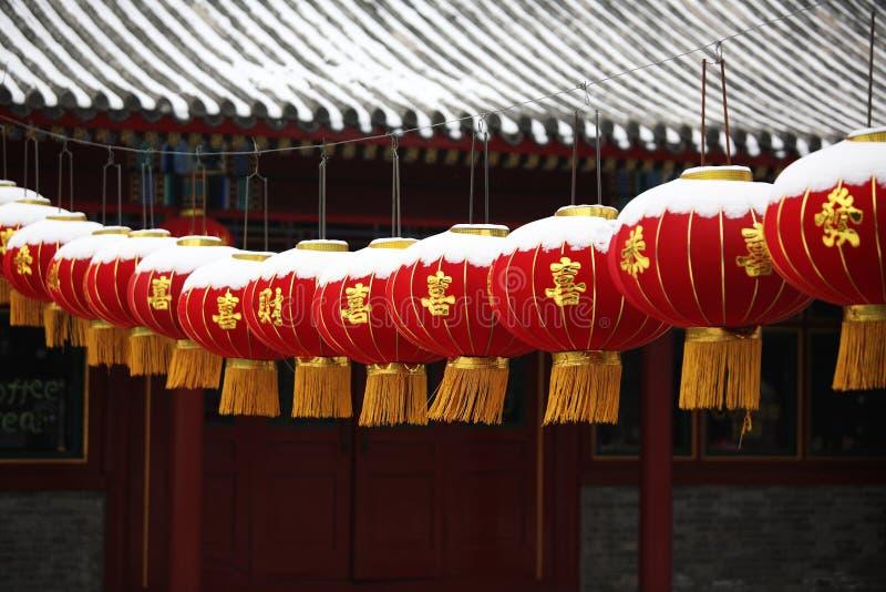 Duzi Czerwoni lampiony obrazy royalty free