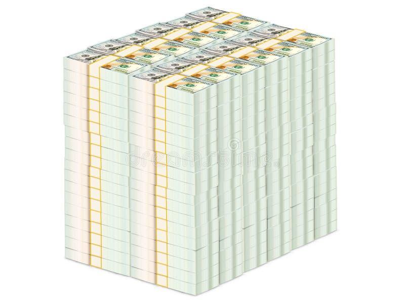 Duzi pieniędzy dolary ilustracja wektor