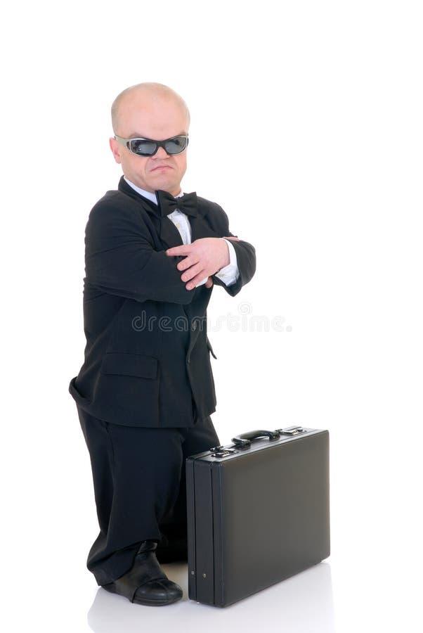 dvärg- affärsman little arkivfoto