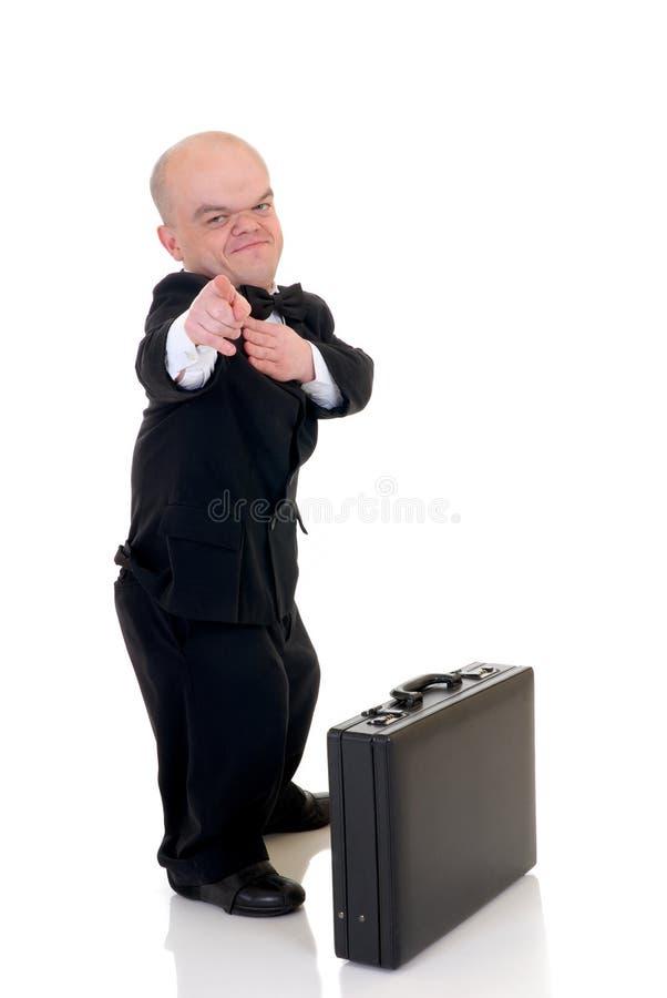 dvärg- affärsman little arkivfoton