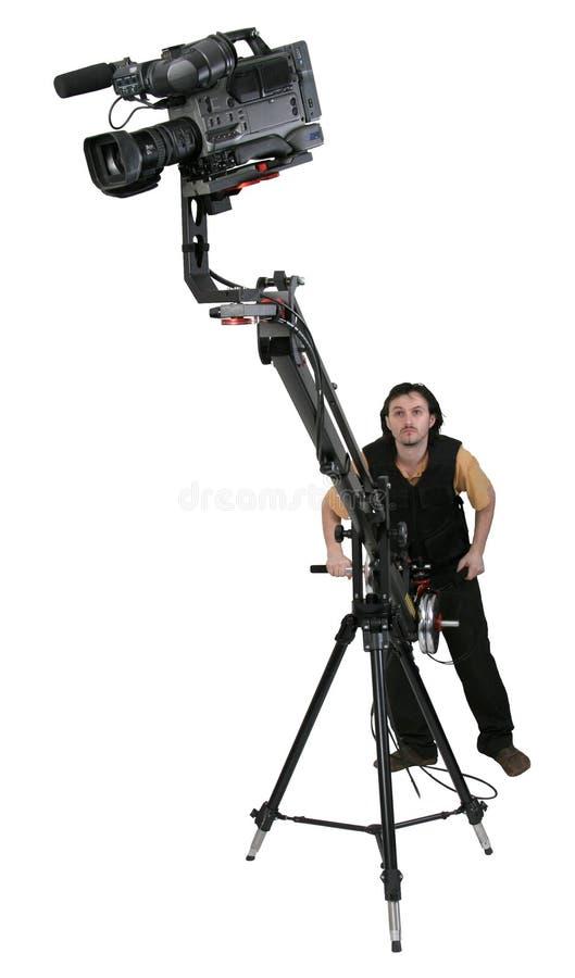 Dv-caméscope sur la grue photographie stock libre de droits