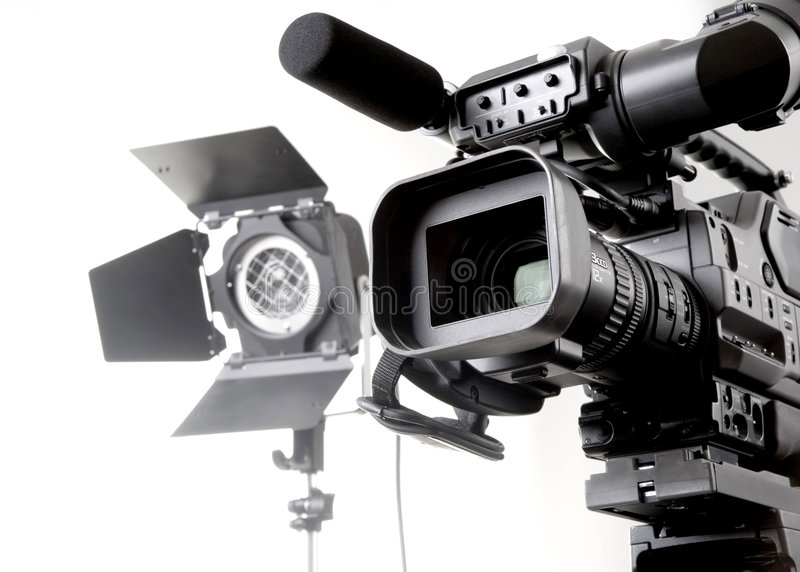 Download Dv camcorder and light stock photo. Image of industry - 7246002