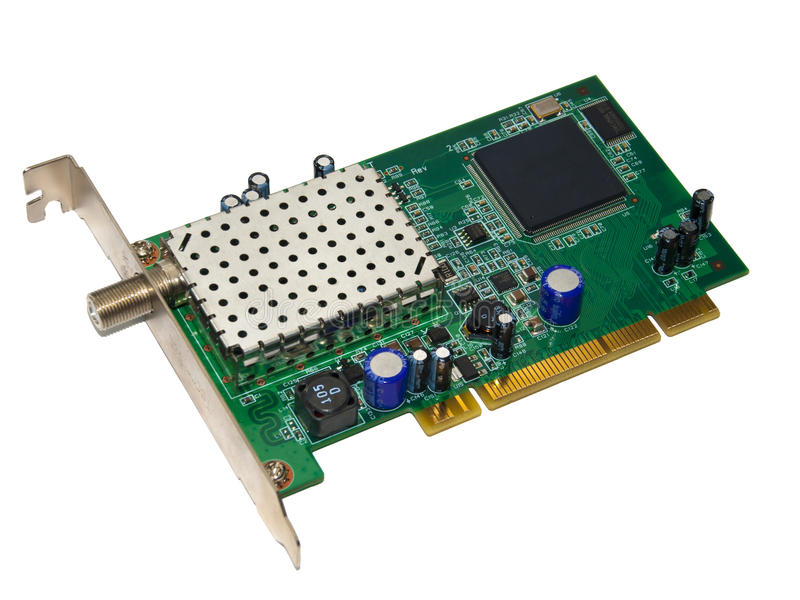 Download DVB card stock photo. Image of equipment, motherboard - 18631508