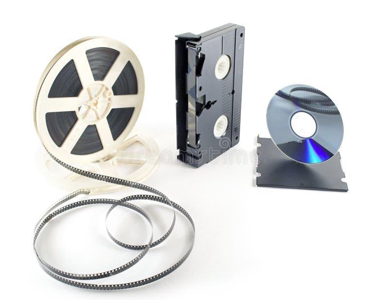 dvd οι ταινίες σχηματοποιούν το VHS στοκ εικόνα