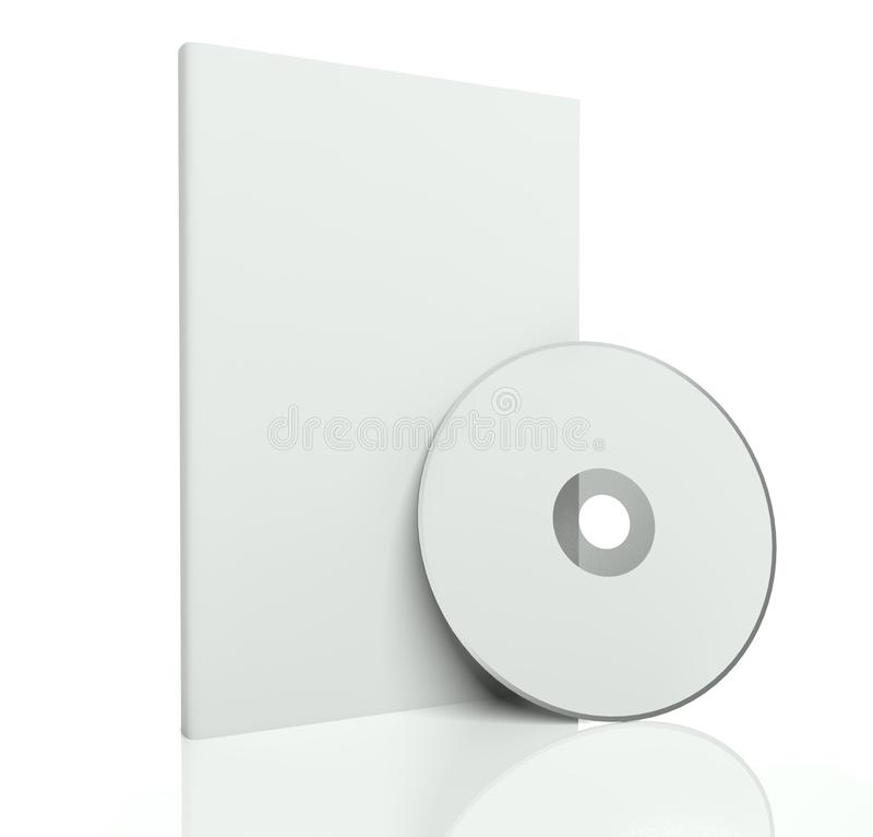 dvd диска пустой коробки 3d cd иллюстрация вектора