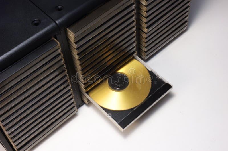 dvd компактного диска случая стоковое изображение