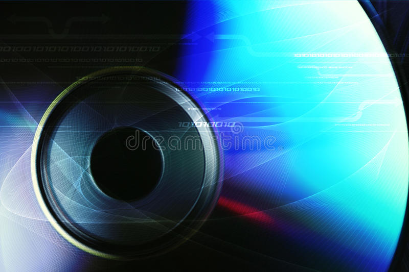 DVD. Image with a blue background gradual stock illustration