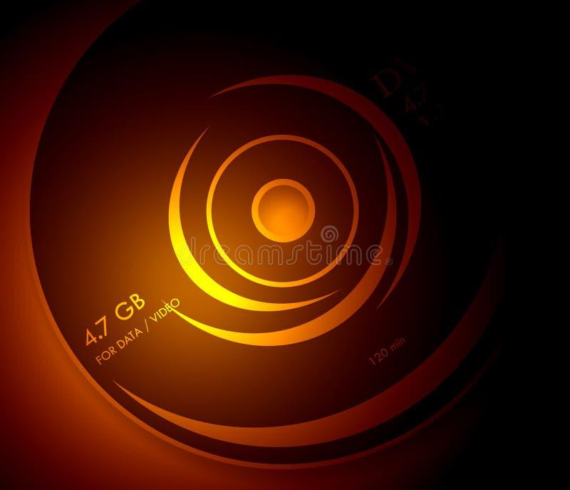 DVD ilustração royalty free