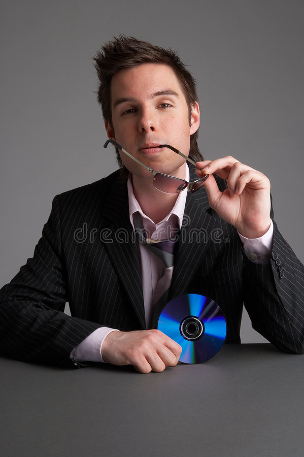 Download Dvd stock photo. Image of glasses, businessman, young, model - 713392