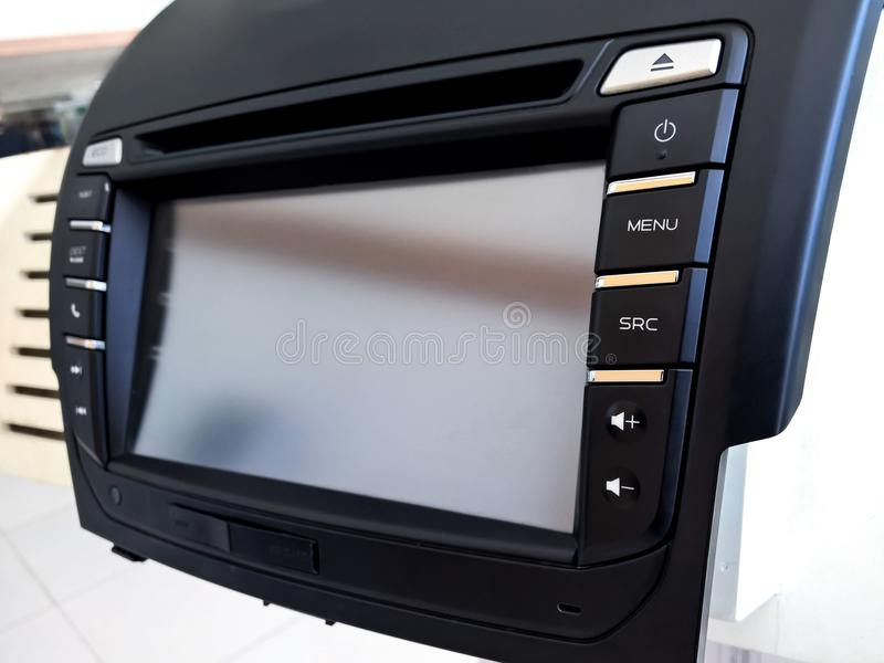 DVD car audio panel royalty free stock images