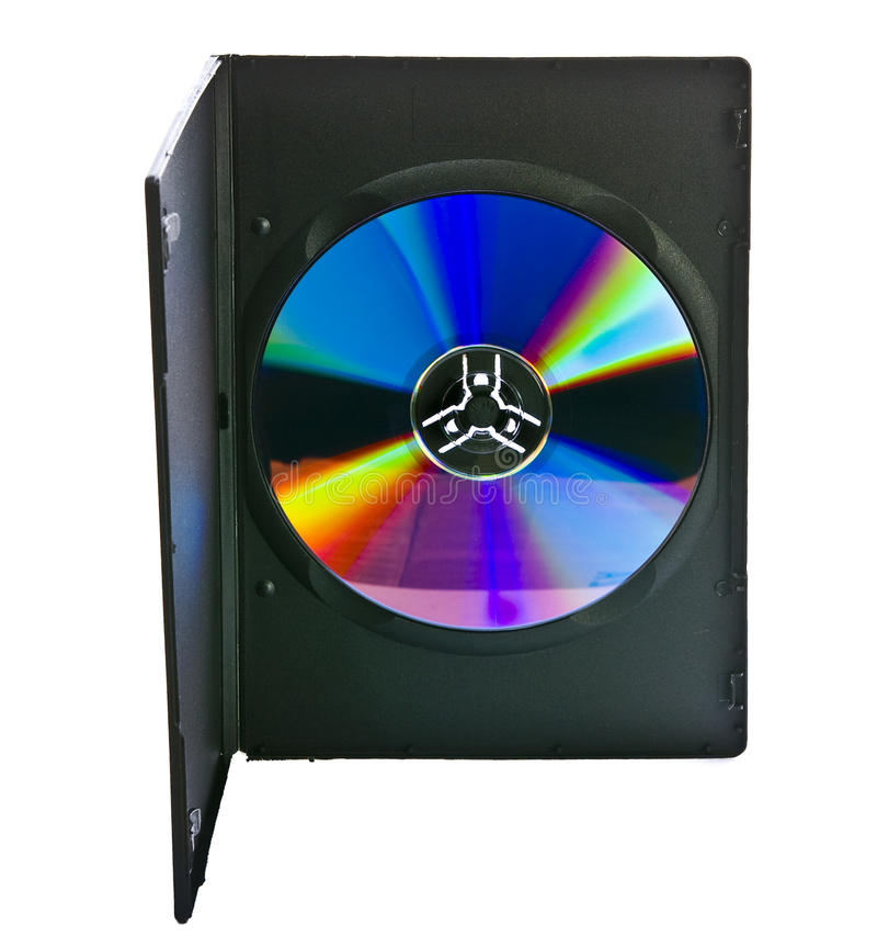 DVD Case And Disc Royalty Free Stock Photography