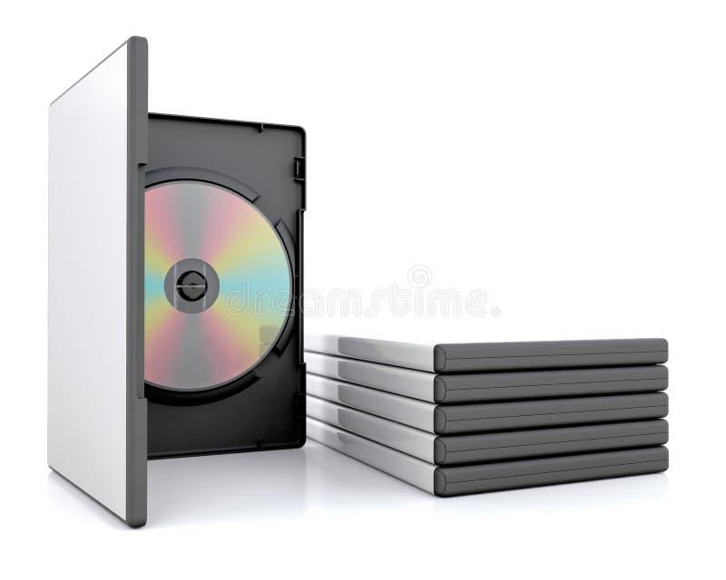 DVD caso que ilustração do vetor