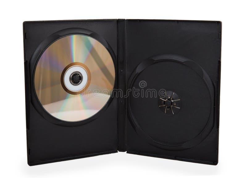 Dvd in cassa nera fotografie stock libere da diritti