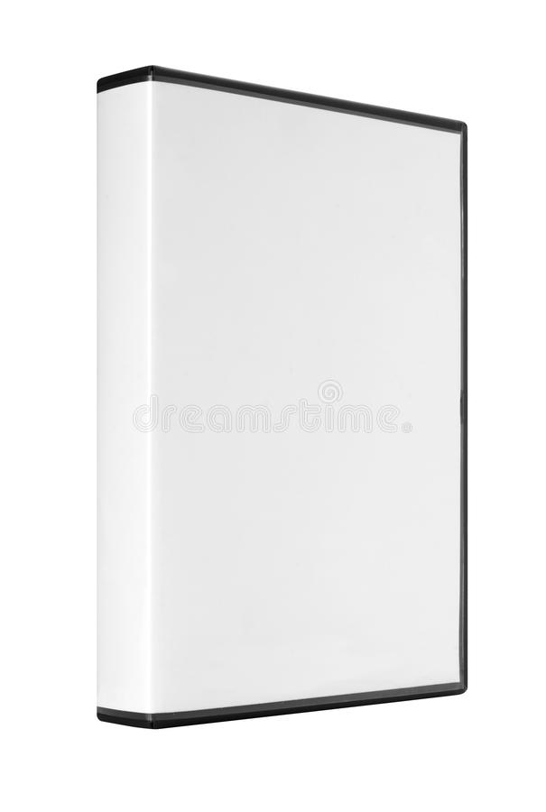 DVD or CD Case. A DVD or CD case isolated on white with a clipping path stock images