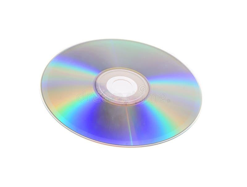 DVD, CD isolado no fundo branco imagens de stock