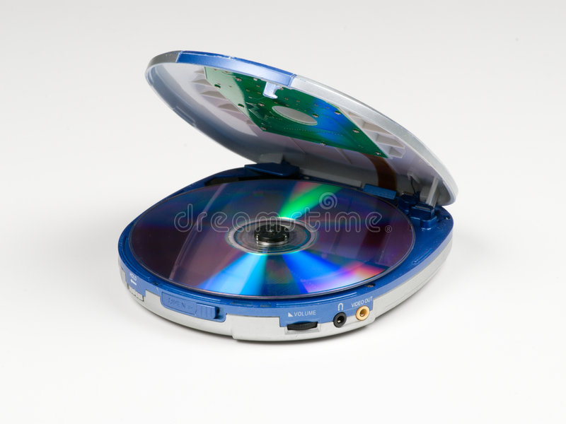 Dvd, Cd, jogador mp3 fotografia de stock royalty free