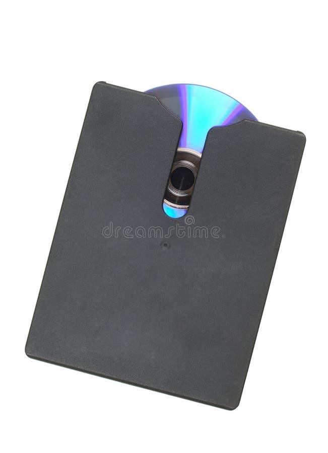 DVD/CD nel caso immagini stock libere da diritti