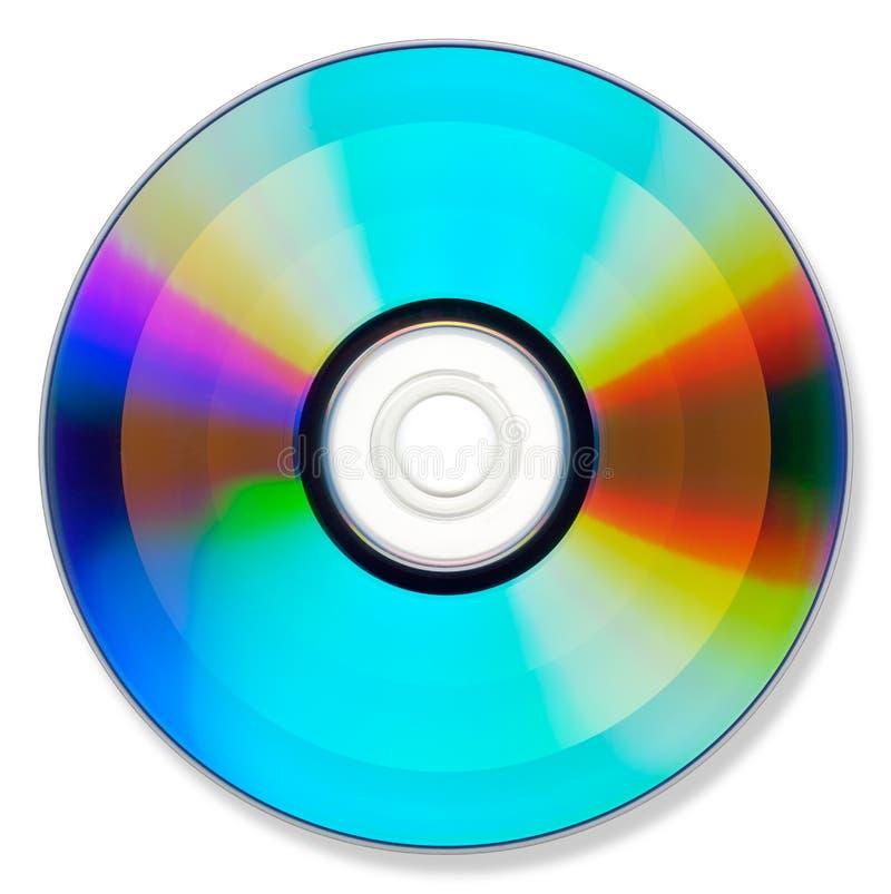 DVD of CD op wit stock afbeeldingen
