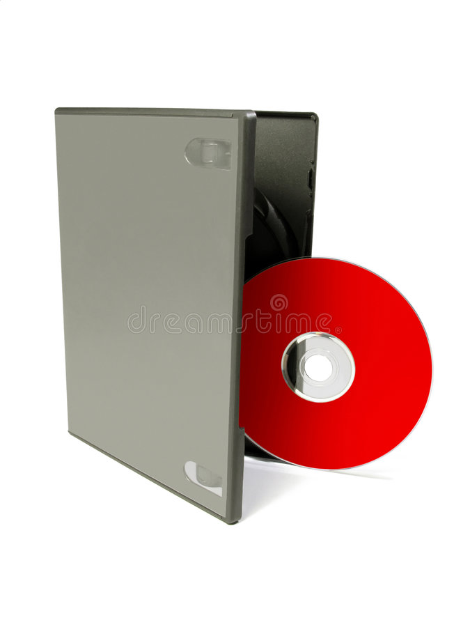 Dvd cover. A blank DVD cover and cd that you can use to showcase your cover art designs