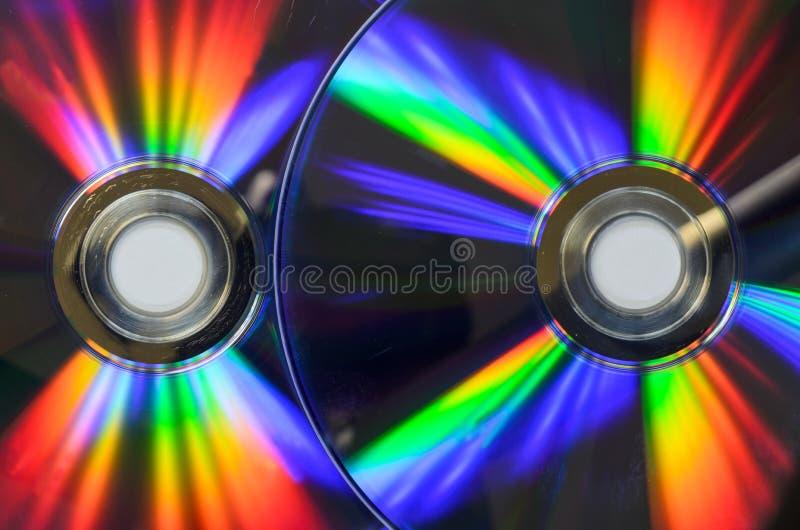 Dvd del CD dell'arcobaleno bluray fotografia stock
