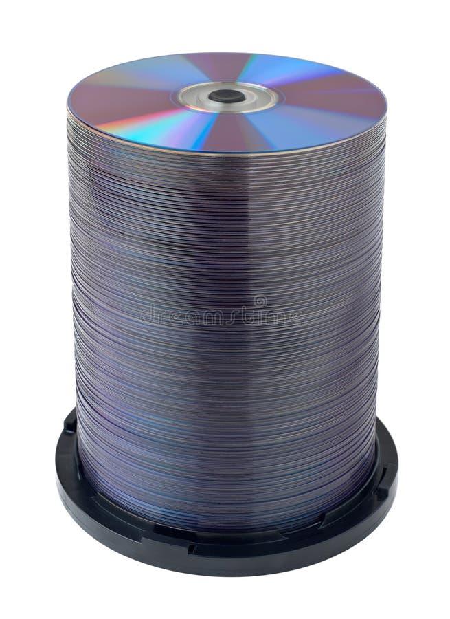 DVD Digitalschallplattenstapel stockbild