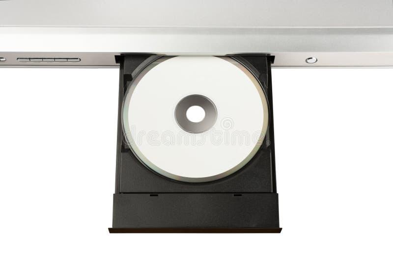 DVD On Disc Tray Stock Photos