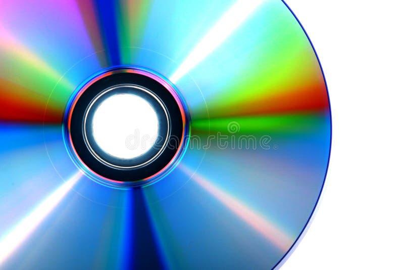 DVD, disco do CD no fundo branco, close-up, isolado imagem de stock